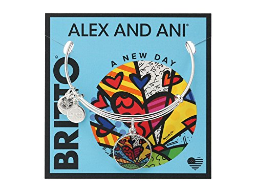 Alex and Ani Romero Britto Art Infusion A New Day Heart Bracelet (New Heart Bracelet)