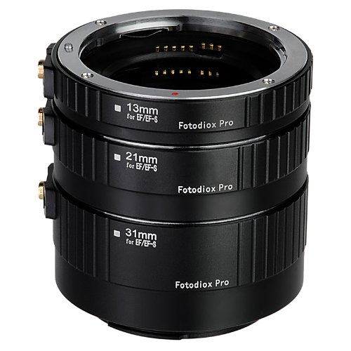 Fotodiox Pro Canon EOS Auto Macro Extension Tube Set Kit for Extreme Close-Up with Autofocus and Auto-Exposure