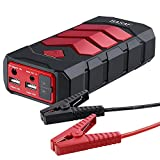 BASAF Portable Jump Starter 600A Peak(up to 4.5L Gas or 2.8T/3.0L Diesel), Car Battery Booster Pack Emergency Kit, JX10 Multifunction Power Bank with Smart USB Charge Port, LED SOS Light