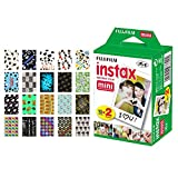 Fujifilm instax Mini Instant Film (20 Exposures) + 20 Sticker Frames for Fuji Instax Prints Graduation Package