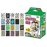 Fujifilm instax Mini Instant Film (20 Exposures) + 20 Sticker Frames for Fuji Instax Prints Graduation Package