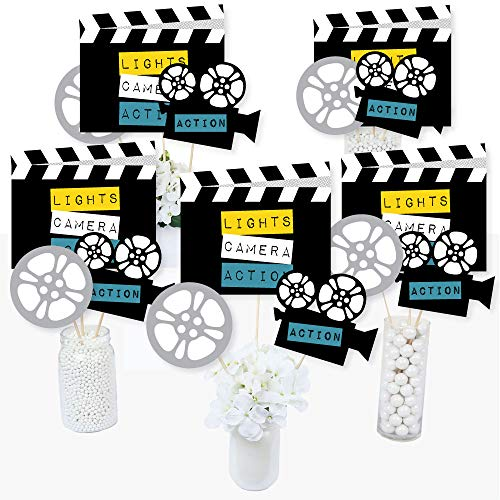 Movie - Hollywood Party Centerpiece Sticks - Table Toppers - Set of 15 (Hollywood Party Centerpieces)