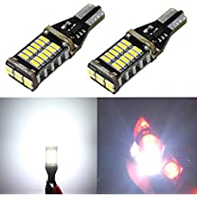 Alla Lighting 2pcs Extremely Super Bright 1000 Lumens 921 912 T15 W16W LED Bulb High Power 4014 30-SMD LED Lights Bulbs for Back-Up Reverse Light Lamps Replacement