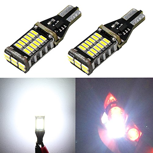 Alla Lighting 2pcs Extremely Super Bright 1000 Lumens 921 912 T15 W16W LED Bulb High Power 4014 30-SMD LED Lights Bulbs for Back-Up Reverse Light Lamps Replacement 2010 Nissan 370z Replacement