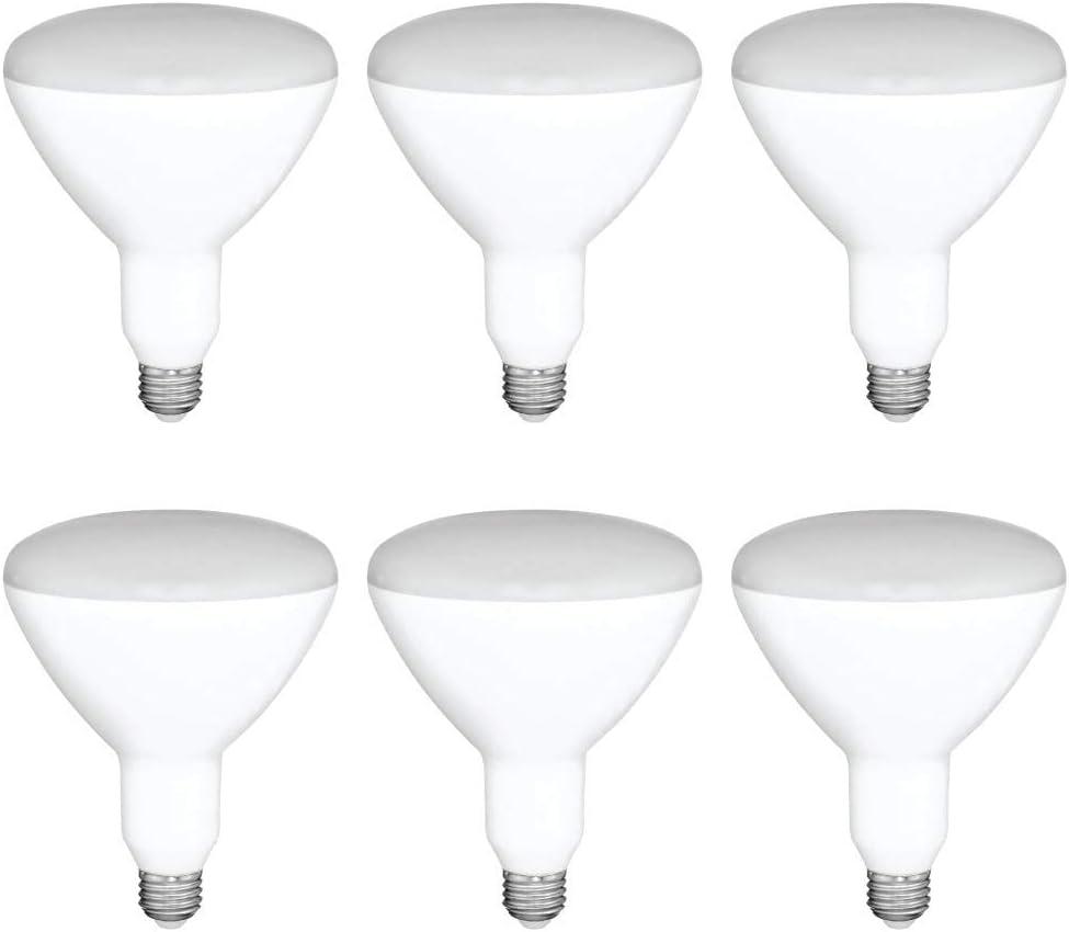 Asencia AN-03665 65 Watt Equivalent BR30 Dimmable LED Light Bulb, 6-Pack, Daylight (5000K)