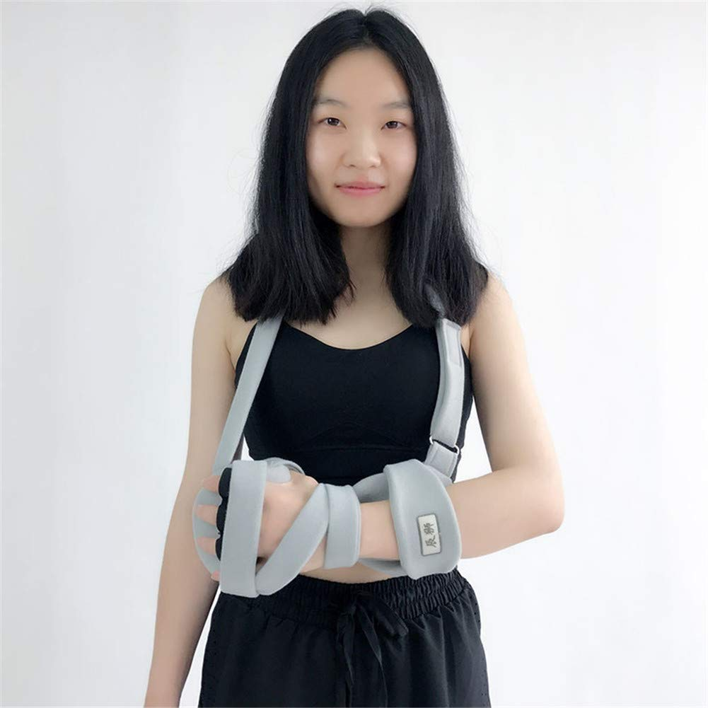 Left Shoulderstrap Hand Splint Night Wrist Splint Support Immobilizer Finger Wrist Fracture Fixation Scaffold for Pain Tendinitis Sprain Fracture Arthritis Dislocation