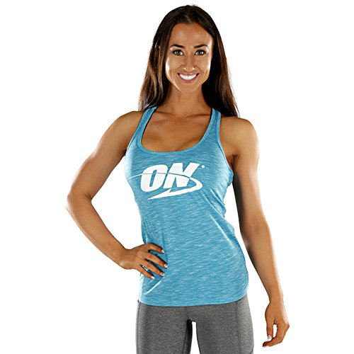 Optimum Nutrition: ON True Strength Racerback Workout Tank Top for Women, Blue, ()