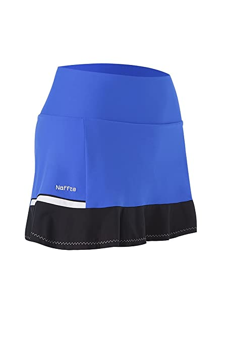 Naffta Tenis Pádel Falda-pantalón, Mujer, Azul Francia/Negro, M
