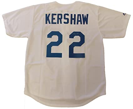Clayton Kershaw Autographed Los Angeles Dodgers White Jersey W PROOF ... fc506ad09c6