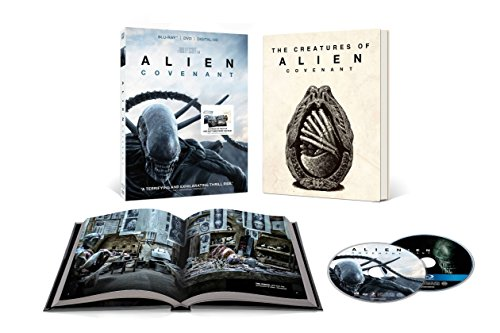Alien  Covenant Limited Edition   With 36 Page Book Packaging   Includes Photos And Sketches  Blu Ray   Dvd   Digital