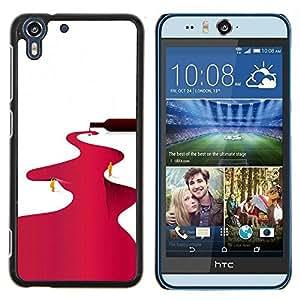 Stuss Case / Funda Carcasa protectora - Río Vino Tinto Minimalista Blanca - HTC Desire Eye M910x