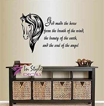 Wall Vinyl Decal Home Decor Art Sticker God Made the Horse From the ...