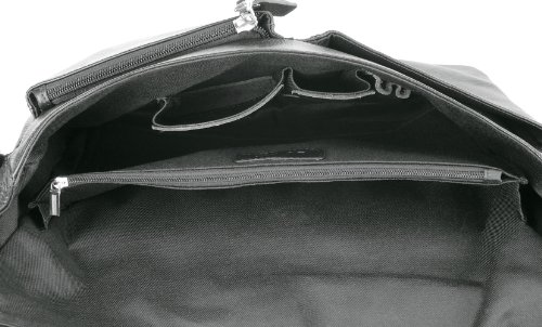 Bovari Messenger Bag Schultertasche Umhängetasche London - echt Leder - small - unisex - Limited Premium Edition - 35x27x8cm - schwarz / black / noir