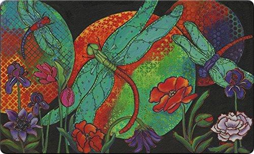 - Toland Home Garden Twilight Flight 18 by 30 Inch Decorative Dragonfly Floor Mat Sunset Flower Doormat