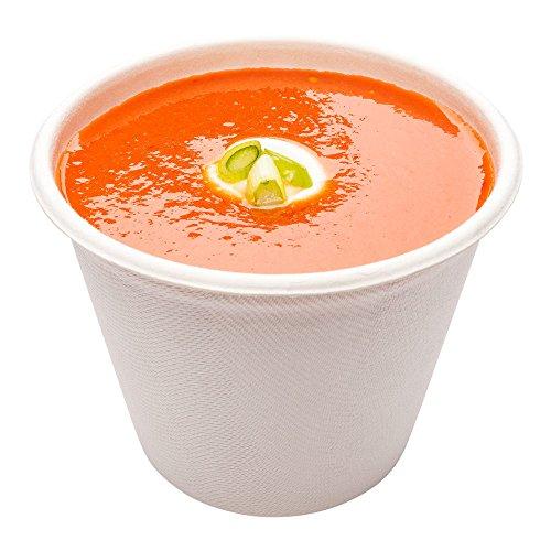 Bagasse Soup Cup, Soup Bowl - 15 oz - Durable All Natural, Biodegradable, Disposable Material - 100ct Box - Restaurantware