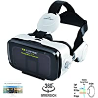 VR EMPIRE Virtual Reality 3D Glasses Headset with 120° FOV, Stereo Headset, Anti-blue-light lens for 4.0 - 6.2 inch Smartphone