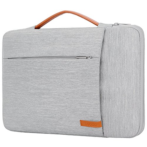 Lacdo 360° Protective Laptop Sleeve Case Briefcase for 15.6 Inch Acer Aspire, Predator, Toshiba, Dell Inspiron, ASUS P-Series, HP Pavilion, Lenovo Chromebook Notebook Bag, Water Repellent, Light Gray (Case Notebook Sleeve Series)