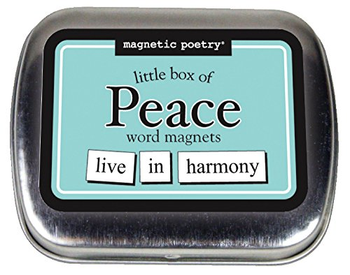 Magnetic Poetry - Little Box of Peace Kit - Words for Refrigerator - Write Poems and Letters on The Fridge - Made in The USA