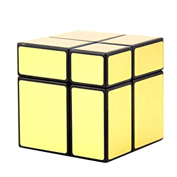 Cubelelo QiYi 2x2 Golden Mirror Cube Speed Cube Magic Cube