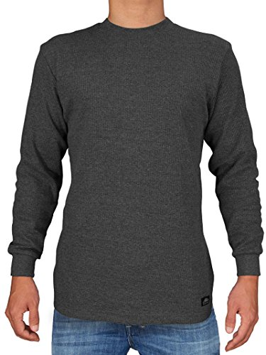 (Knocker Men's Heavy Weight Waffle Pattern Thermal Shirt (Charcoal, Medium))