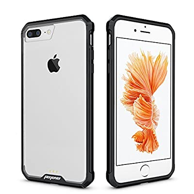 iPhone 7 Clear Case, Pajuva PC+TPU Transparent Case Thin for iPhone 7 Crystal Clear Case With Bumper by Pajuva