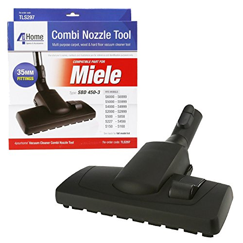 First4Spares 35mm Combination Floor Tool Brush Head For Miele S2000 - S8000 Canister Vacuum Cleaners