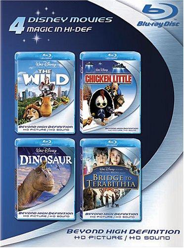 Blu-ray 4-Pack: Disney Movies (The Wild / Chicken Little / Dinosaur / Bridge to Terabithia)