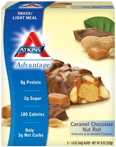 Atkins Advantage Caramel Choc. Nut Roll – 15 Bars