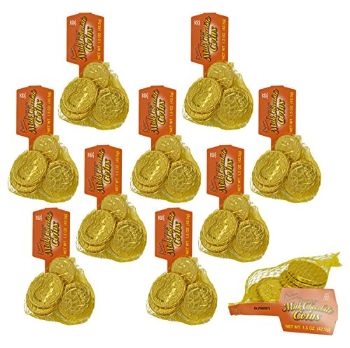 Set of 90 Palmer's Premium Milk Chocolate Coins - Perfect Party Favor, Table Scatter, Easter Egg Filler, and More!