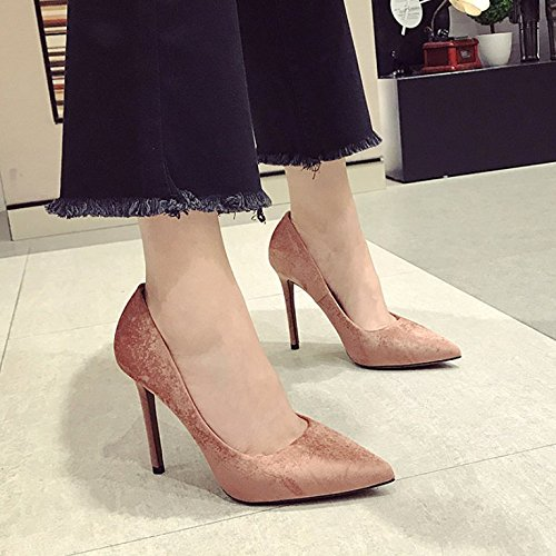 High Work With Heeled Elegant 11Cm Shoes Shoes Pointed Lady Shoes MDRW Simple Fine Commute Single All Color 34 Spring Leisure Bean Match 0E7qpAw