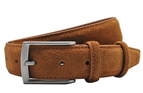 Ground Mind Extra Thickness Suede Leather Belt for Men,38,Tan (Suede Leather Belt Strap)