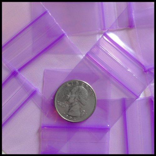 "Mini Ziplock 100 15125 You Choose Design 1.5"" X 1.25"" Baggies Apple Brand High Quality (Purple)"