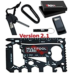 He'll feel like a smiling child in a Christmas morning when he'll get the smartRSQ's 37-in-1 Wallet Pocket Tool - Black Edition v2.1. It's the right multi-tool for every job! You can use the Survival Card Tool to screw things in, tighten bolt...