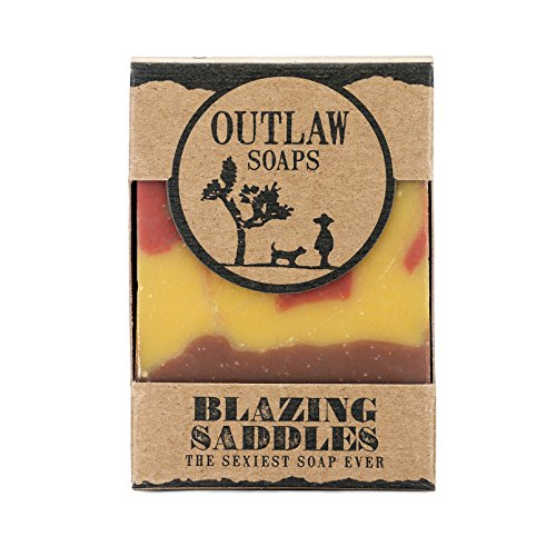 Blazing Saddles (The sexiest soap ever) - 2 Pack of handmade soap for men and women. Smells like leather, gunpowder, sandalwood, and sagebrush (Saddle Soap Bar)
