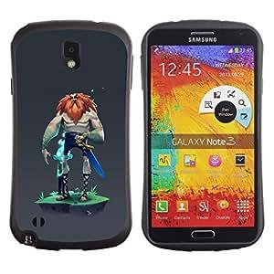 LASTONE PHONE CASE / Suave Silicona Caso Carcasa de Caucho Funda para Samsung Note 3 N9000 N9002 N9005 / Viking Big Man Warrior Sword Red Beard Strong
