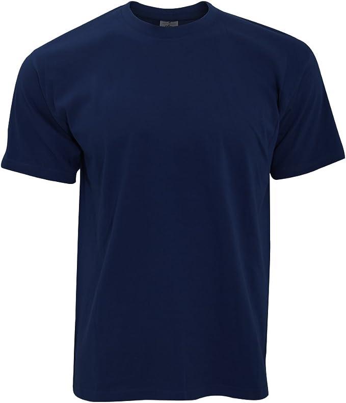Camiseta negra algodon hombre
