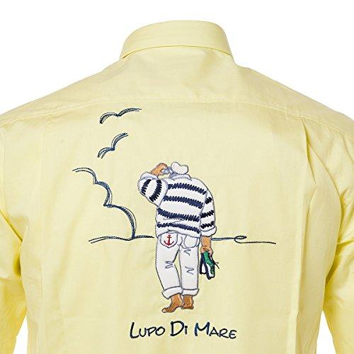 SINA COVA Men's Short Sleeve Shirt yellow Large Yellow by SINA COVA (Image #3)
