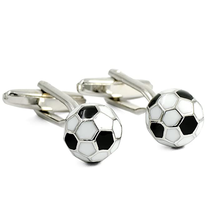 ENVIDIA - Gemelos con diseño de balón de fútbol, Color Blanco y ...