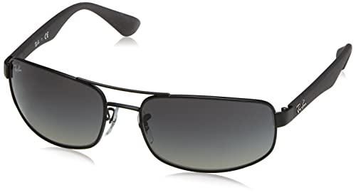 Ray-Ban Men's Sunglasses RB3498 61 mm, Black (002/71 61