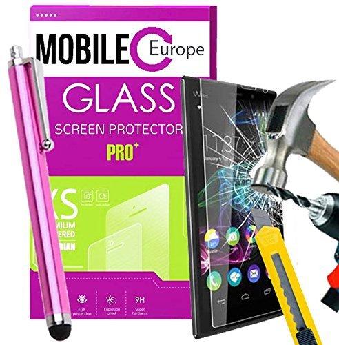 Pack de 2 protectores de pantalla cristal templado para wikon Lenny 2 incluye lápiz rosa antihuellas): Amazon.es: Electrónica