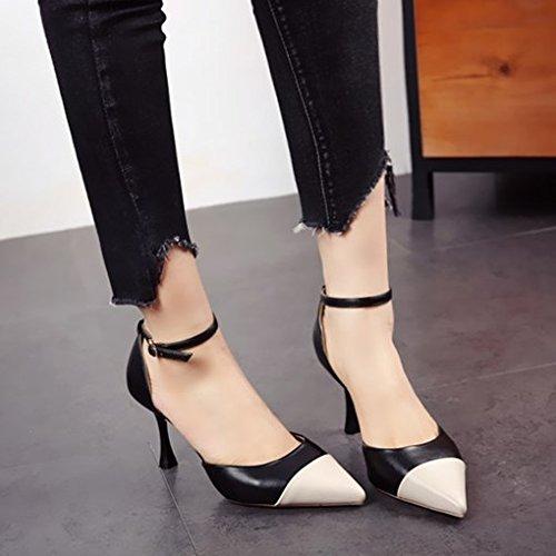 FLYRCX Europäische Mode Persönlichkeit High Heels High Heels Frühling Frühling Frühling und Sommer feinen und scharfen single schuhe party Schuhe 8c6957