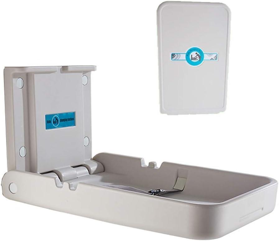 JALAL Cambiador Gris para baño/Restaurante/vivero, Organizador de vestidor montado en la Pared para bebés/bebés, Carga 50 kg
