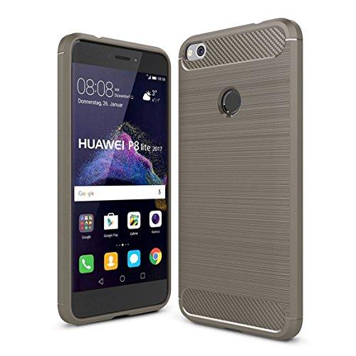 Funda Huawei P8 Lite 2017 ,Yosemy Carcasa Silicona TPU de Alta Resistencia y Flexibilidad Protección Shock- Absorción Case...