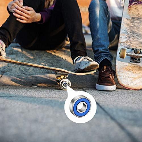 lahomia Cuscinetto per Skateboard Rullo per Ruota in Acciaio per Pattinaggio Antiusura Pattino in Linea di Precisione