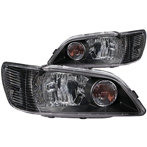 Anzo USA 121101 Mitsubishi Lancer Crystal Black Headlight Assembly - (Sold in Pairs)