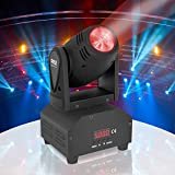 Pyle Rotating Moving Stage Light - for Professional DJ Show Performance or Dance Party with RGB Color LED Projector Bulb, Flashing Disco Strobe, Beat Sync Motion Effect and DMX Control - PDJLT40