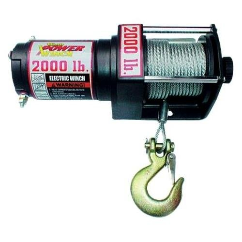 Front Clutch Pulley (Wood Power Winch 2000lb Winch Heavy Duty ATV - Power In/Out Controls - Clevis Hook, Pulley Block and Hand Saver Hook - Pull Knob Cam Action)