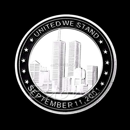 Coin - Coin 9 11 Plated Tribute United We Stand Commemorative Collection H0vh - Collectibles Coin Stand Coins Currency Coins Coin Love Heart Silver Easel Flower With Stand Gold Chinese Coll ()