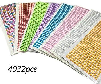Self Adhesive Sparkly Diamante Gems Stickers Scrapbooking Craft Embellishments