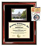 Texas A & M University College Station Diploma Frame TAMU Graduation Degree TAMU Campus Photo Graduation Certificate Double Matted Collegiate Document Case Holder Gift Plaque Framing